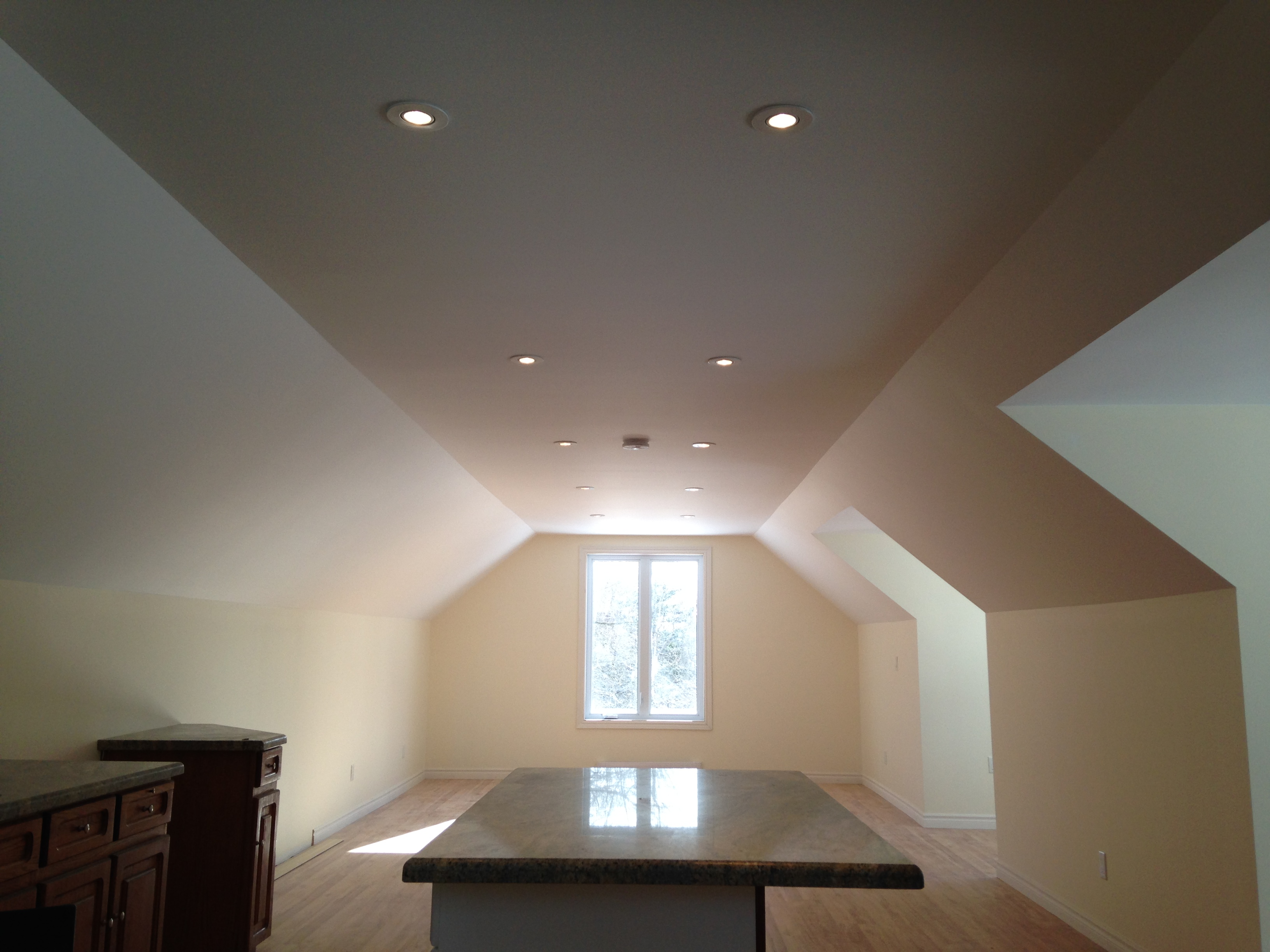 Renovation in an attic space in a old home in Cobourg Ontario.